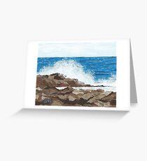 Sea Spray, Fife Ness Greeting Card