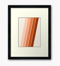 The Skinney - 70's abstract minimal stripe striped pattern retro throwback 1970s art decor by Seventy Eight Framed Print