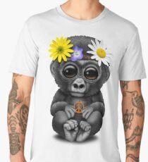Cute Baby Gorilla Hippie Men's Premium T-Shirt