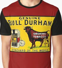 BULL DURHAM: Vintage Smoking Tobacco Advertising Print Graphic T-Shirt