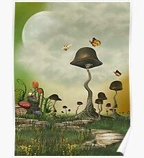 Strange Mushrooms Poster