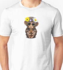 Cute Baby Monkey Hippie T-Shirt