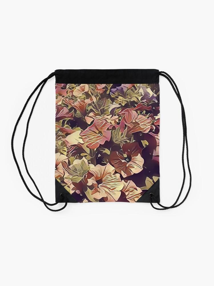 Alternate view of New Flowers, New Hopes Drawstring Bag