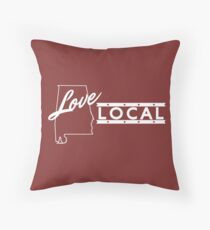 Love Local Alabama Throw Pillow