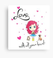 Love With All Your Heart Metal Print