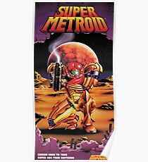 Super Metroid, Remastered From Classic 1994 Vintage Poster Poster