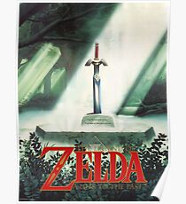 The Legend of Zelda, A Link To The Past - Sword in Stone Poster Recreated Poster