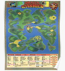 NES Dragon Warrior Map Poster - Rare and Super Cool Poster