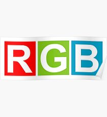 RGB (Red Green Blue) Poster