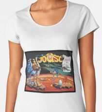 Joust Recreated from Ultra Rare William's Arcade Poster Women's Premium T-Shirt