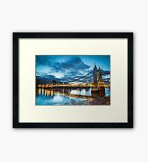Hammersmith Bridge London Framed Print