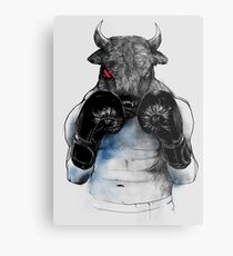 The eye of the Raging Bull Metal Print