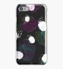 Tropical leaves seamless neon pattern. iPhone Case/Skin