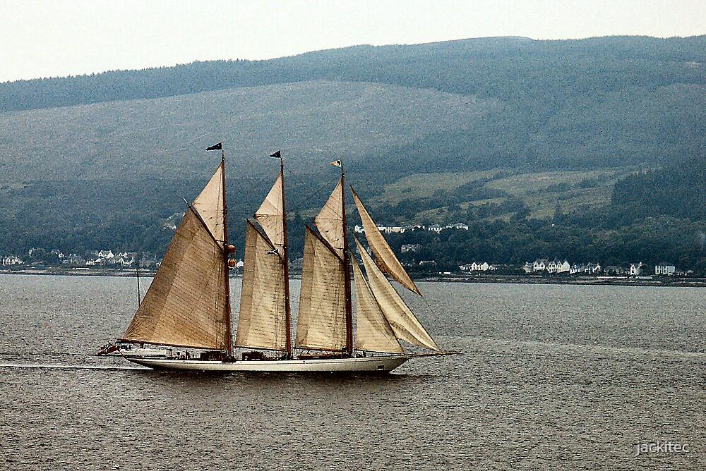 Schooner on the Clyde by jackitec