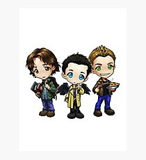 Supernatural - Dean, Sam and Castiel Photographic Print