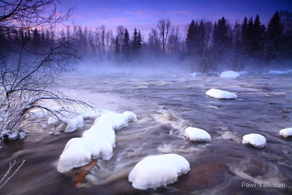 Winter on river by Päivi  Valkonen