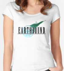 Final Fantasy VII/Earthbound Logo Women's Fitted Scoop T-Shirt