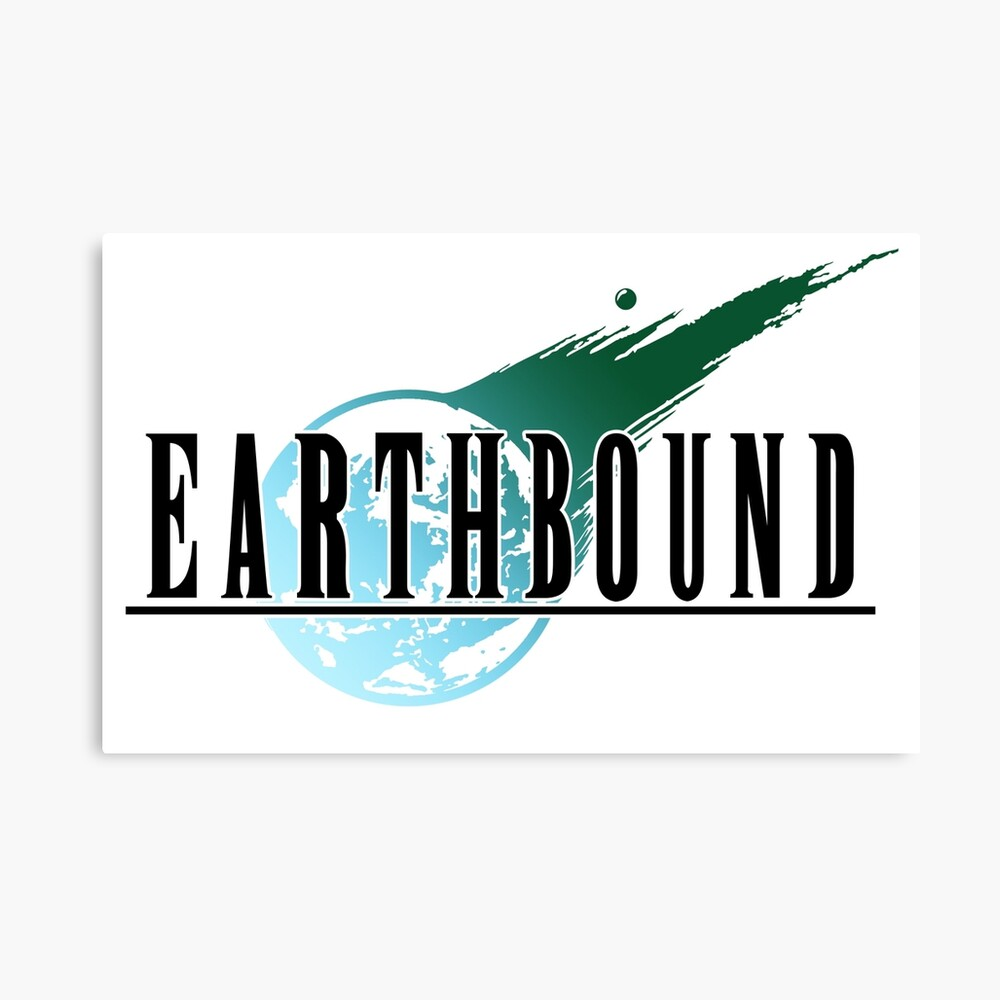 Final Fantasy VII/Earthbound Logo Canvas Print