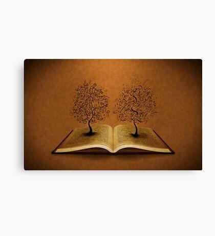 The GiddyUp Tree and The Bickham Script Tree Canvas Print