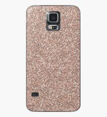 Rose gold glitter  Case/Skin for Samsung Galaxy