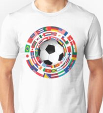 World Flag Football Soccer Cup Collection T-Shirt