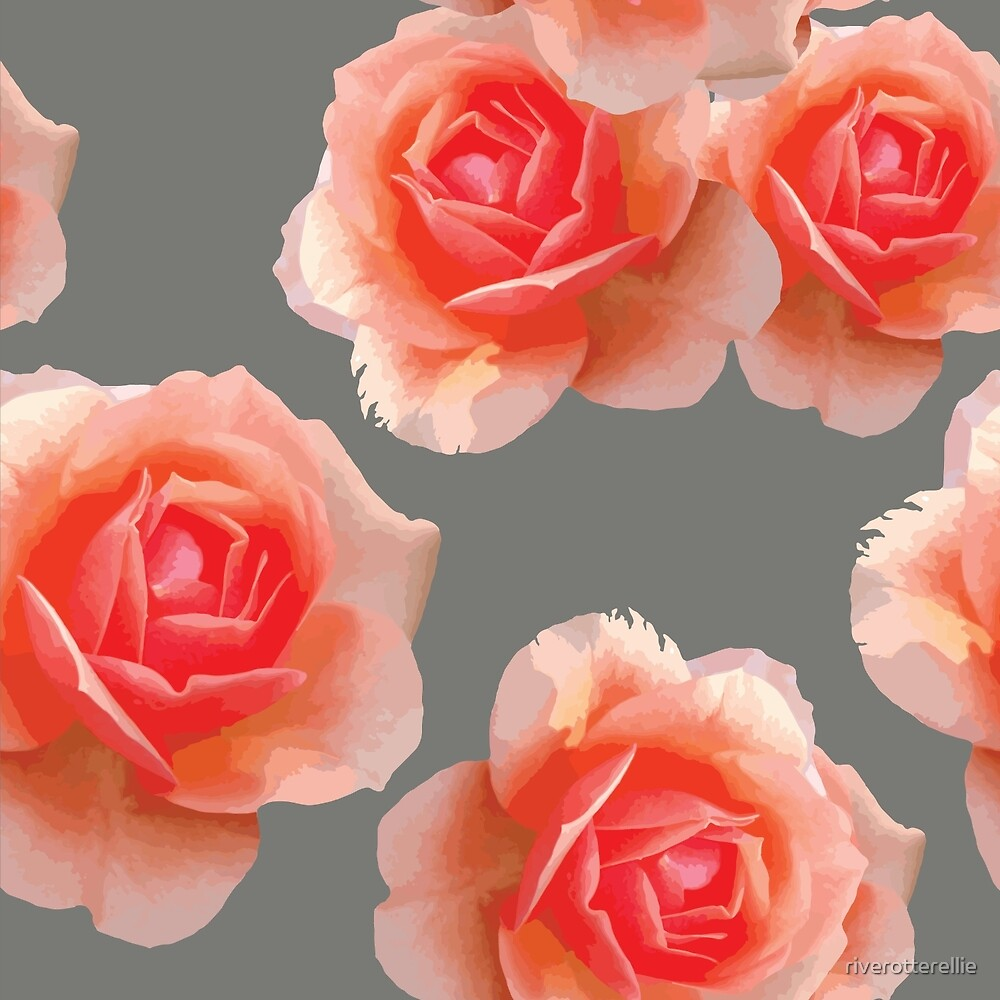 Blushing Roses Pattern by riverotterellie
