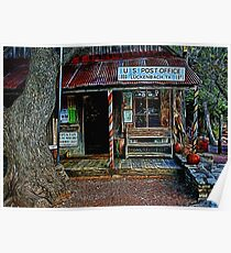 Luckenbach TX Painted Poster