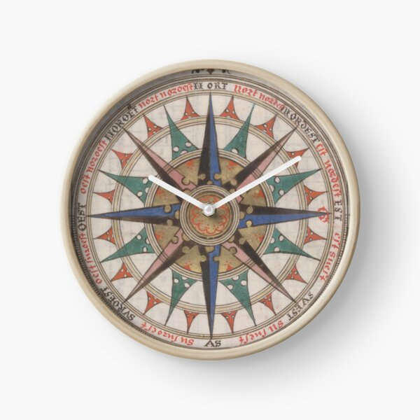 Historical Nautical Compass (1543)  Clock