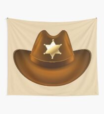 sheriff hat Wall Tapestry
