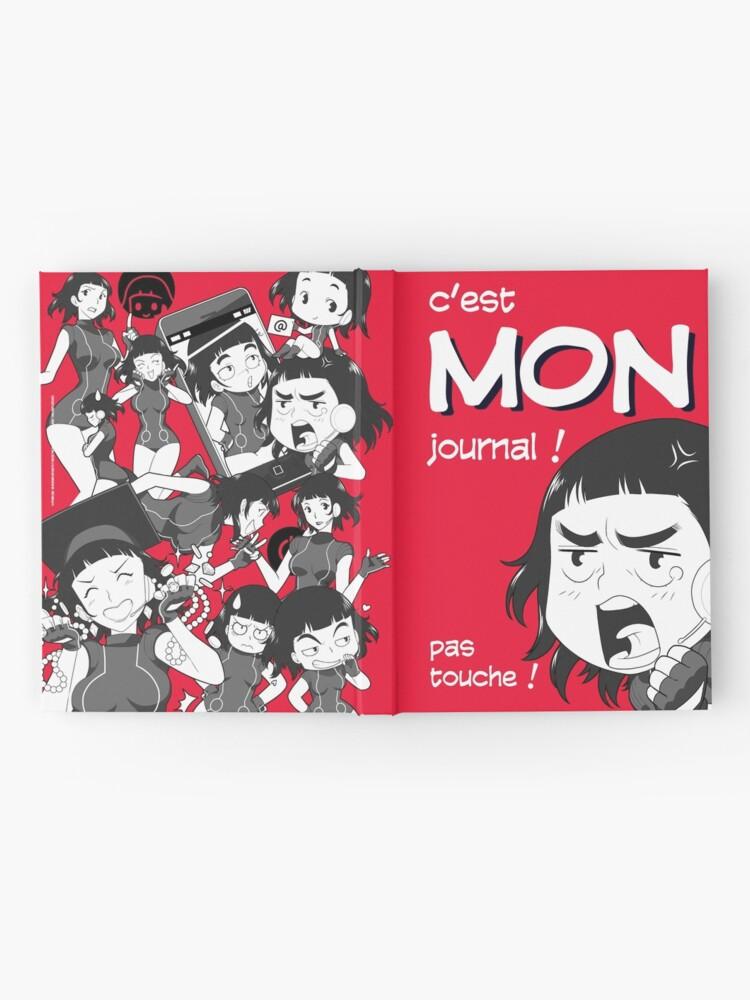 Carnet cartonné ''8-OPTIONS.COM - FR - MON JOURNAL A5 - ROUGE - 10 $ pour auteurs': autre vue