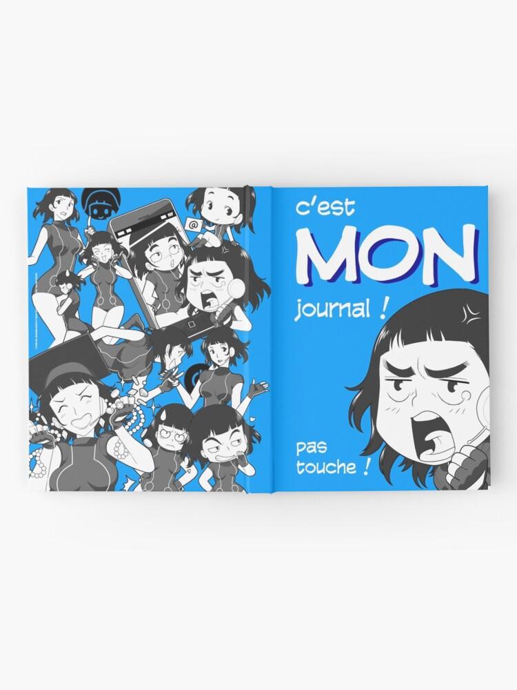 Carnet cartonné ''8-OPTIONS.COM - FR - MON JOURNAL A5 - BLEU - 10 $ pour auteurs': autre vue