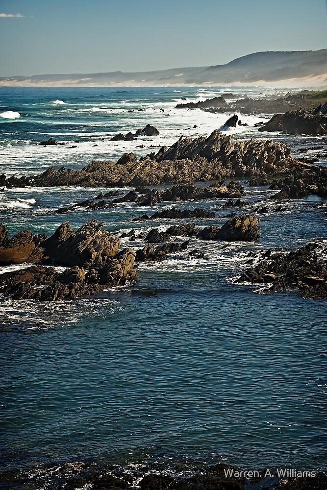 Rugged Coast . by Warren. A. Williams