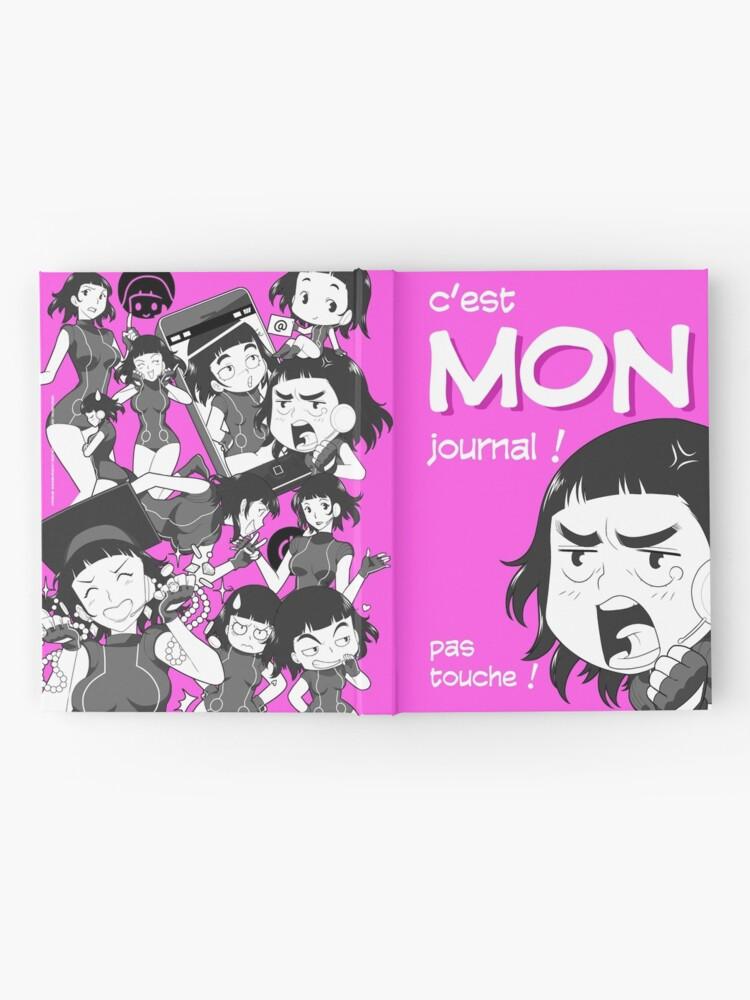 Carnet cartonné ''8-OPTIONS.COM - FR - MON JOURNAL A5 - ROSE - 10 $ pour auteurs': autre vue