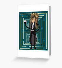 The Goblin King's Labyrinth Greeting Card