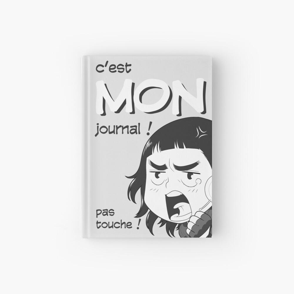 Carnet cartonné «8-OPTIONS.COM - FR - MON JOURNAL A5 - GRIS CLAIR - 10 $ pour auteurs»