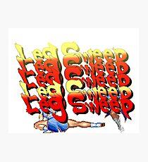Street Fighter 2:  Leg Sweep Edition Photographic Print