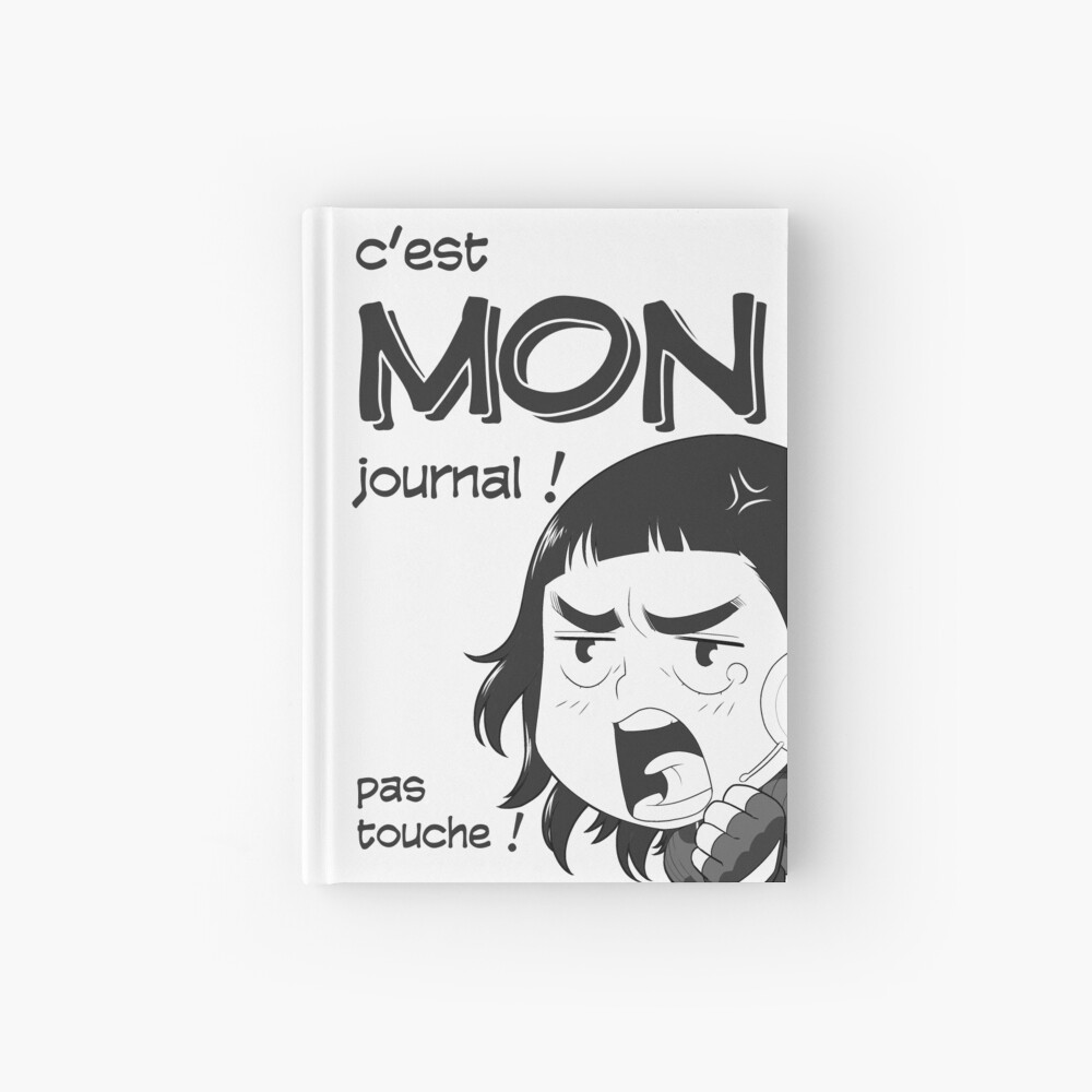 Carnet cartonné «8-OPTIONS.COM - FR - MON JOURNAL A5 - BLANC - 10 $ pour auteurs»