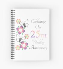 Elegant 25th Anniversary Spiral Notebook