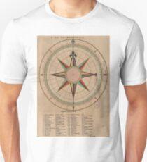 Vintage Compass Rose Diagram (1664) Unisex T-Shirt