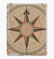 Vintage Compass Rose Diagram (1664) iPad Case/Skin