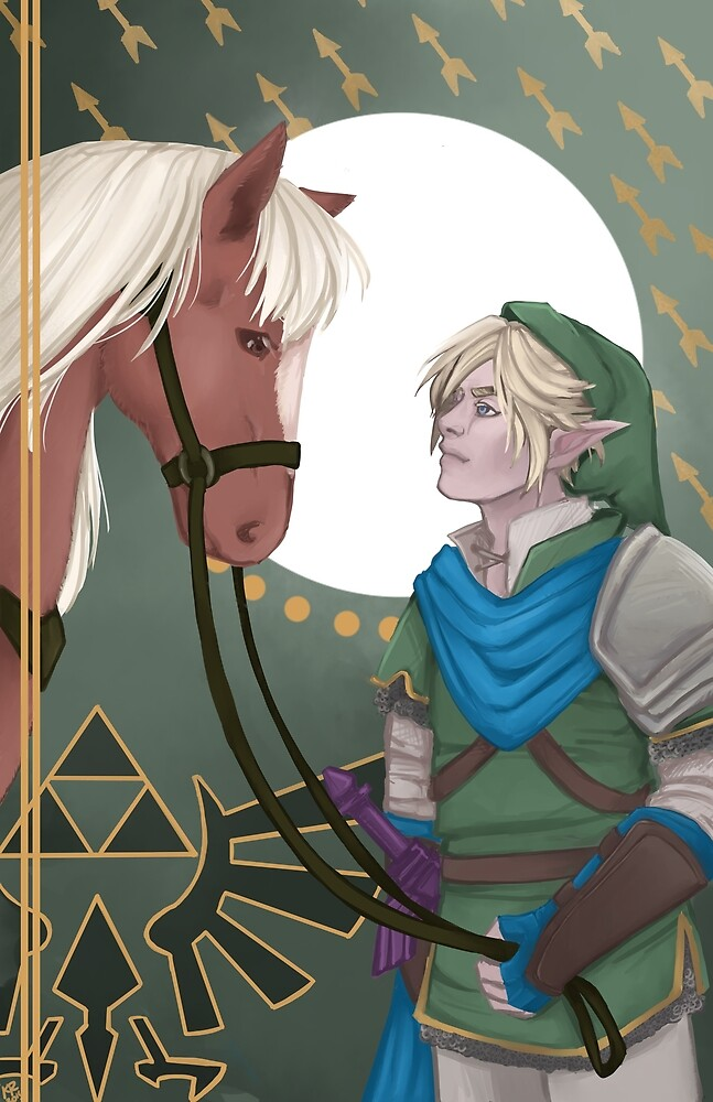 Link and Epona by Olevander