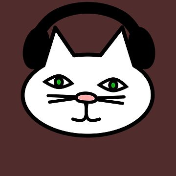 Cat With Headphones Ready To Party D.J. Music Beats T-Shirt by lcorri