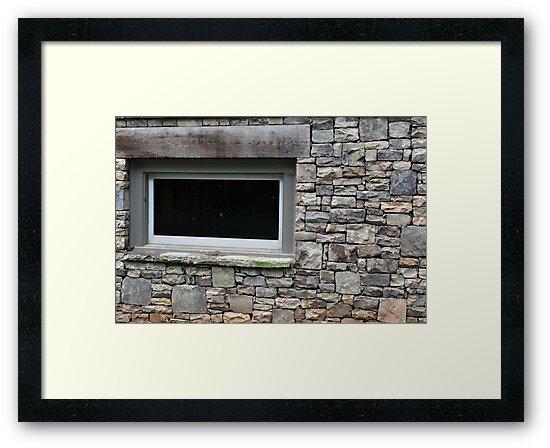 rock wall window by A.R. Williams