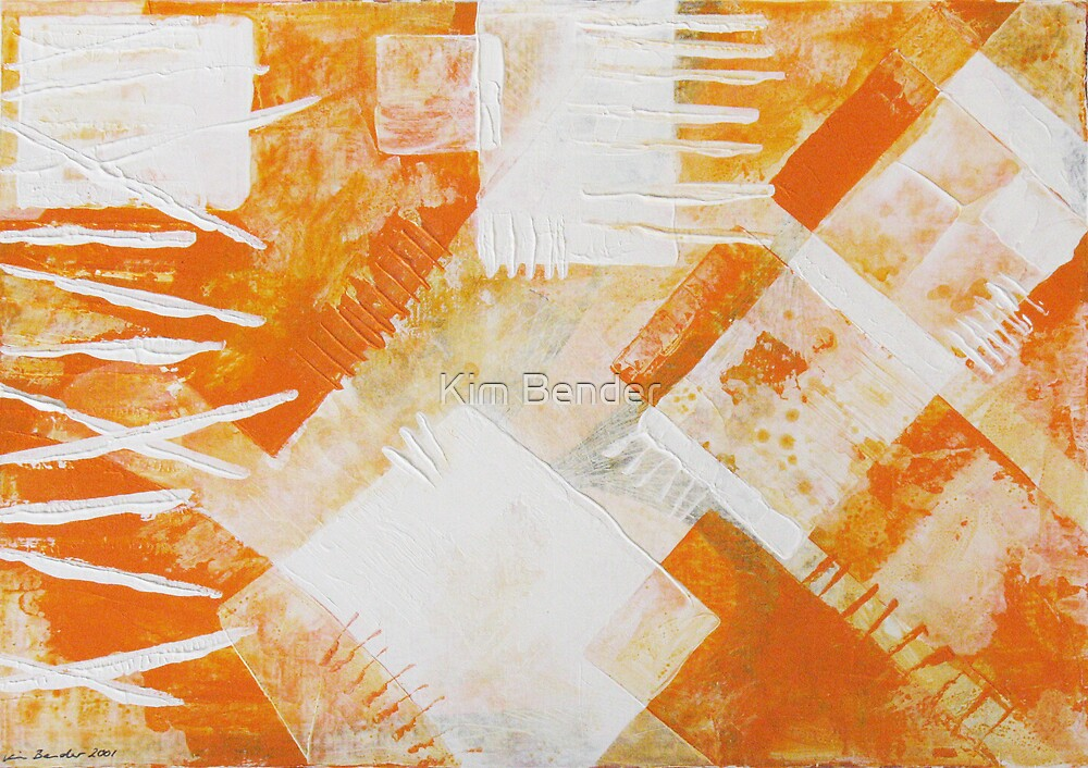 Orange Abstraction  by Kim Bender