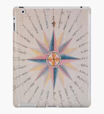 Vintage Compass Rose Diagram (1773)  iPad Case/Skin