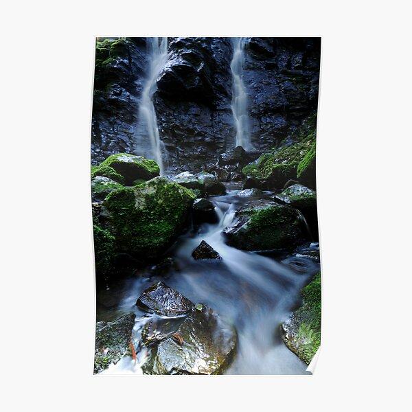 Dual waterfall Poster