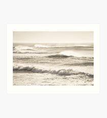 Windswept Waves Art Print