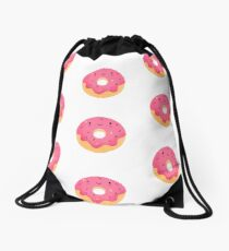 Happy donut Drawstring Bag