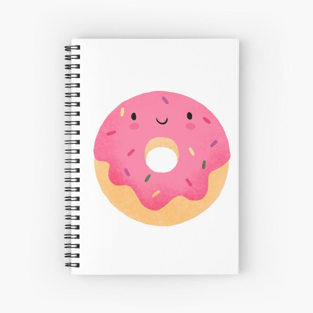 Glücklicher Donut Spiralblock