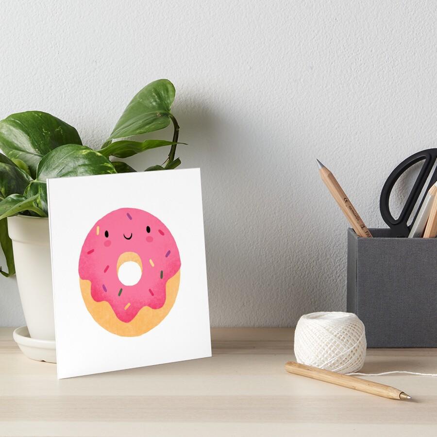 Glücklicher Donut Galeriedruck